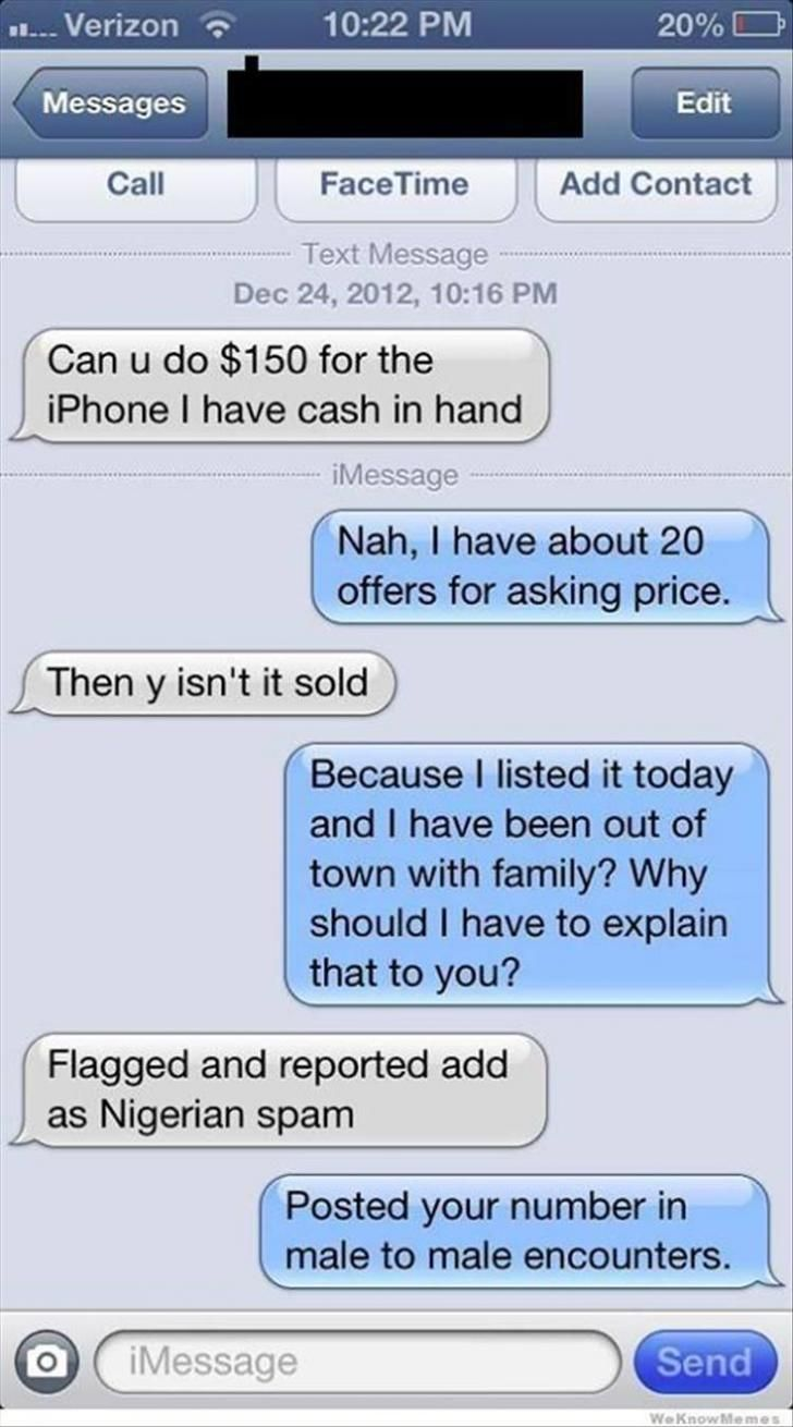 Selling Stuff On Craigslist Best Funny Pictures Funny Meme Pictures Witty Comebacks