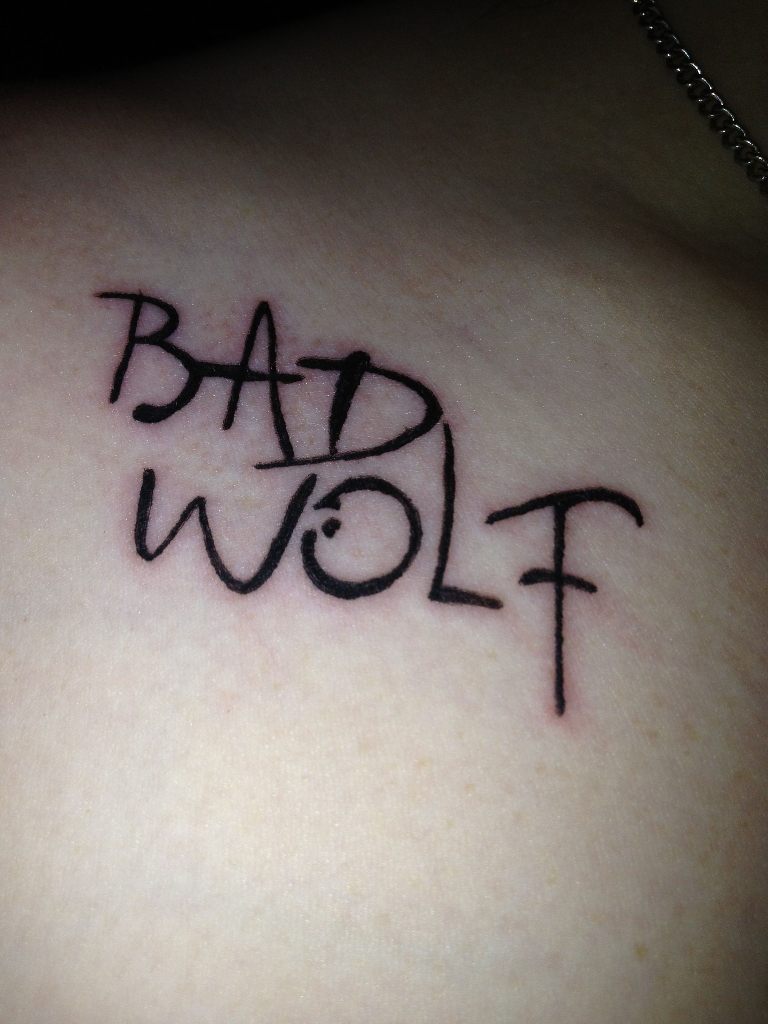 Doctor Who! My New Bad Wolf Tattoo