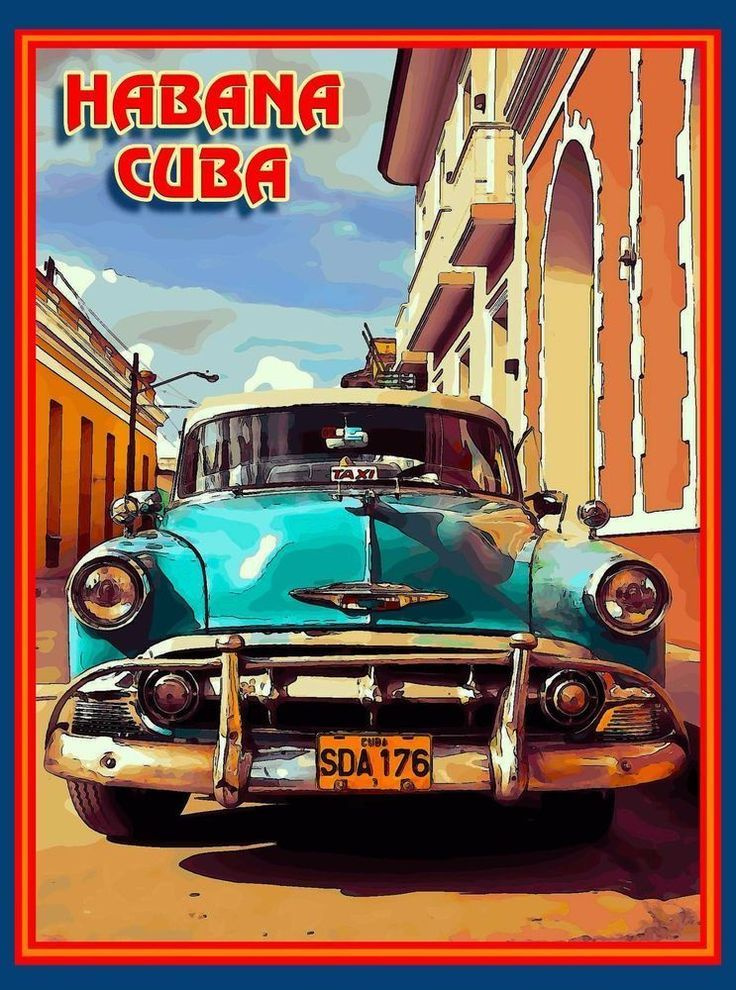 Cuba Cuban Havana Island Habana Caribbean Travel Art Advertisement Poster | eBay