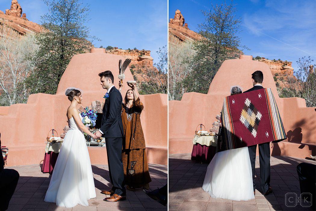 sedona wedding enchantment resort native american ceremony