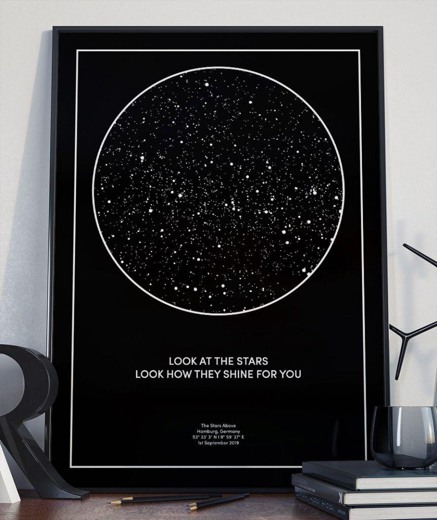 TheStars.de – Deine persönliche Sternenkarte   Sternenkarte ...