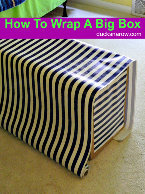 How To Gift Wrap Big Box February 2019 All Things Creative