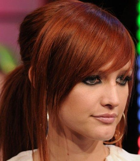 Cheveux roux fonce coloration
