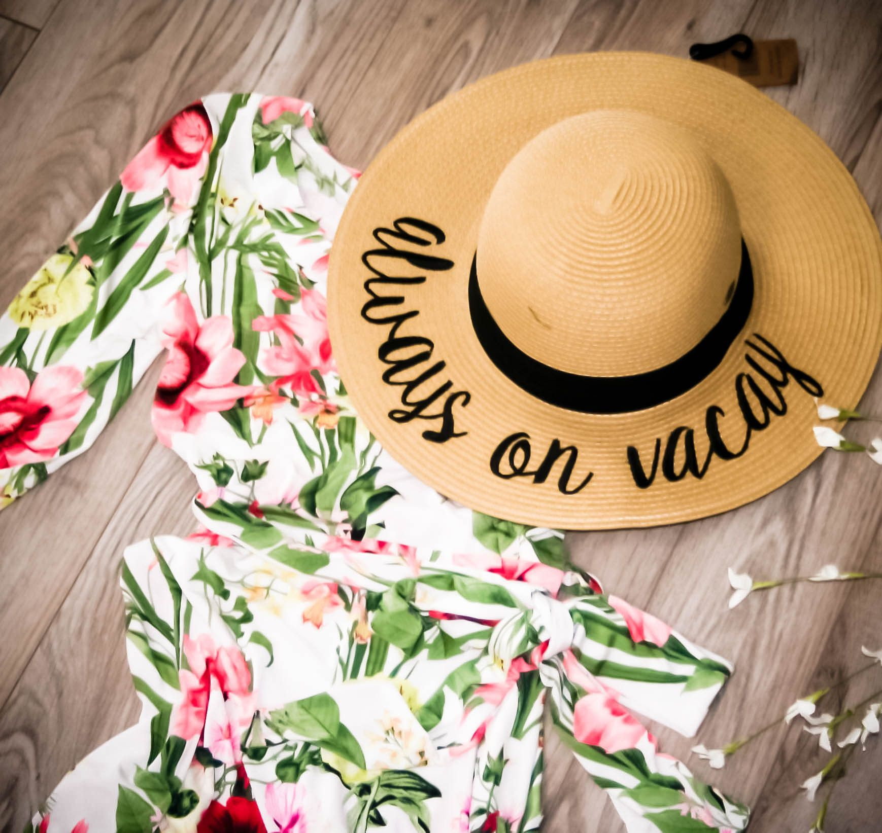 5a726e21a4b2b CC Embroidered Wide Brim Vacation Floppy Sun Hat