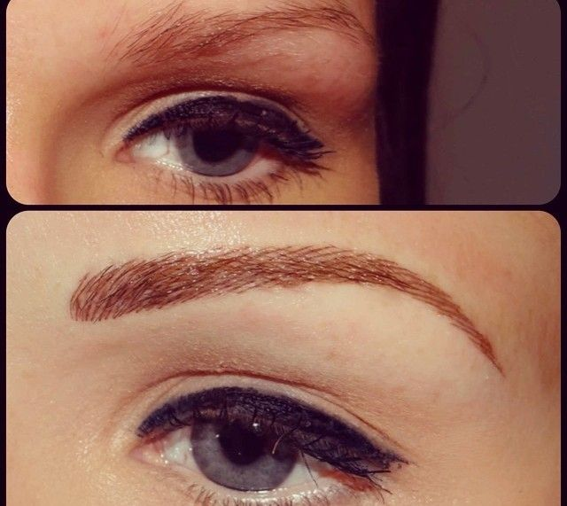 Cosmetic Eyebrow Tattoo Before And After Tattoos Eyebrow