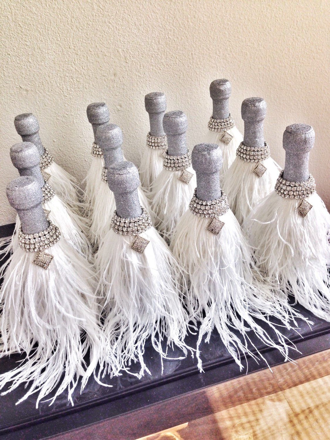 Ostrich Feathers Champagne Wedding Favors - Wedding Gift ...