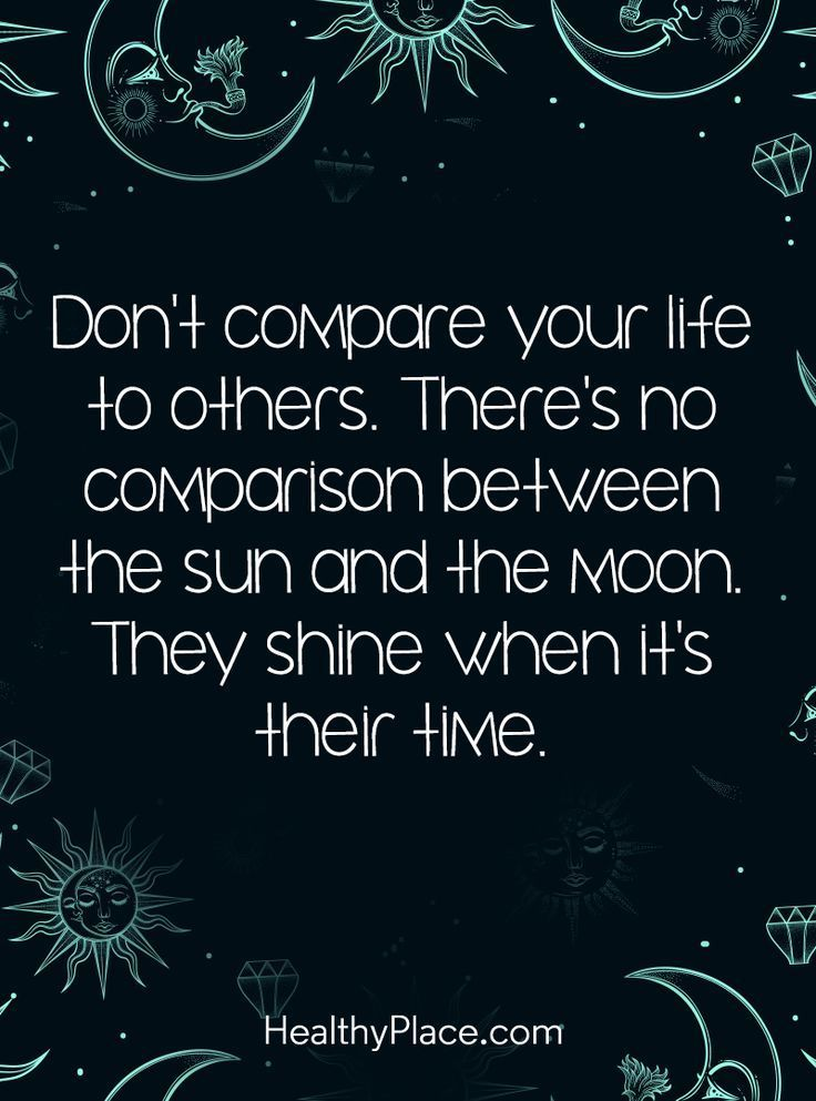 Quotes About Life :Positive Quote: Don't compare your life