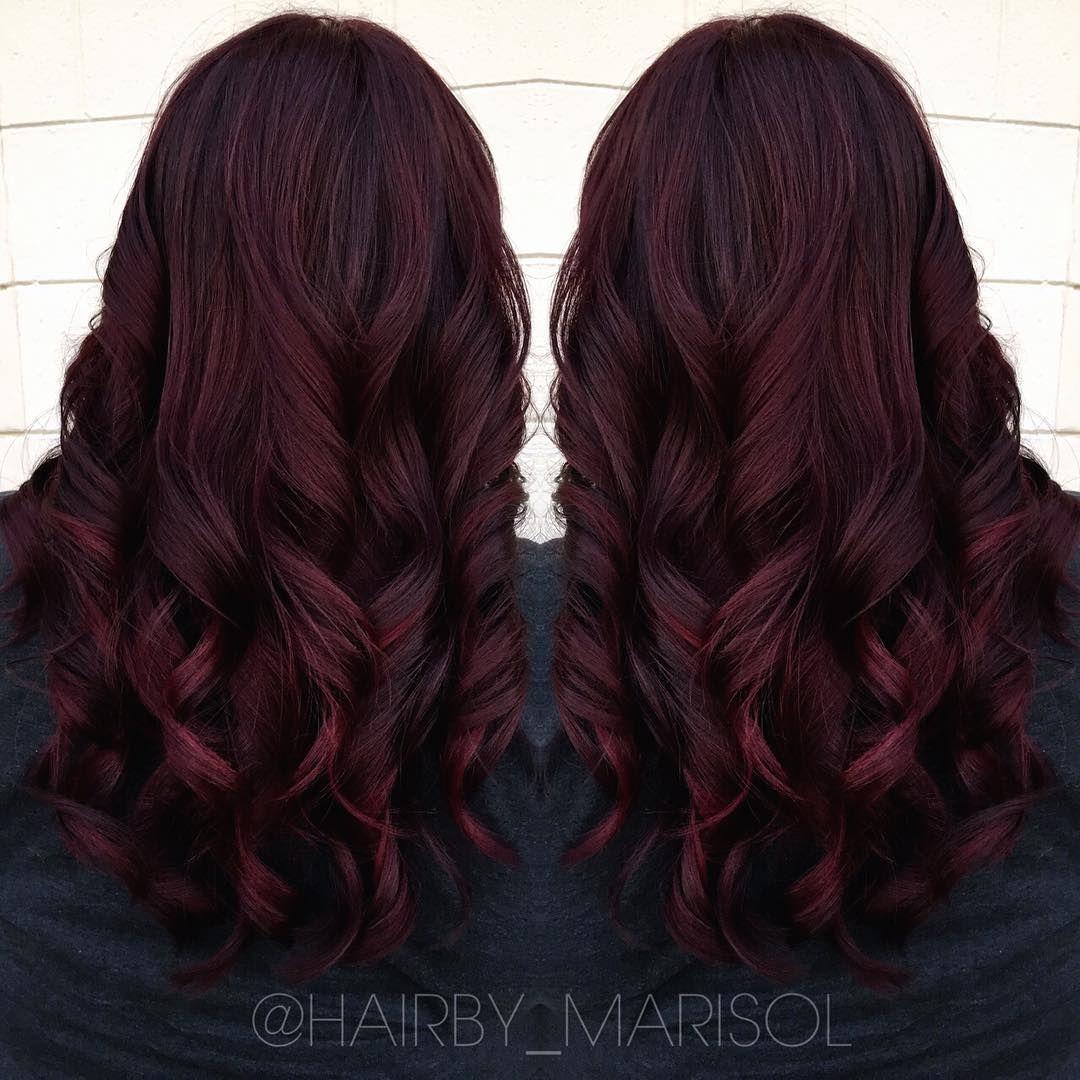 Gorgeous Leaning Towards This Color Dark Burgundy Hair Hair