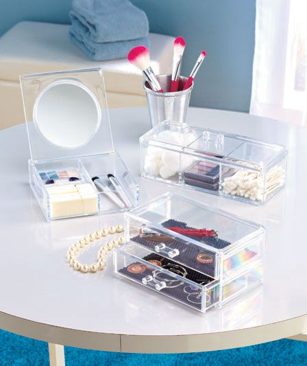 clear acrylic cosmetic organizers