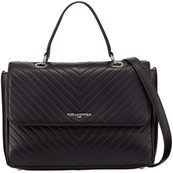 Karl Lagerfeld Paris Charlotte Quilted Leather Shoulder Bag ... 4583ed8dfc59a