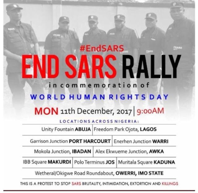 Gbosa End Sars Rally Goes Nationwide Set To Hold Across The Country On Monday December 11th Rally Warri Human Rights Day