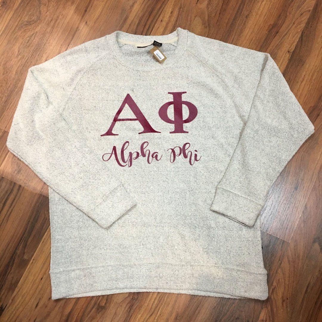 Alpha phi slubbie sweatshirt Sweatshirts, Alpha phi