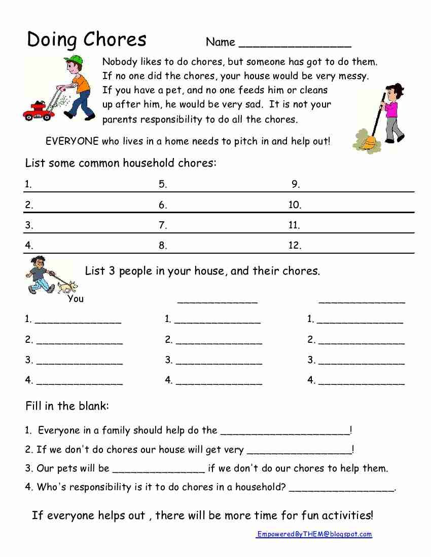 Chores Home School Pinterest Life Skills Education And