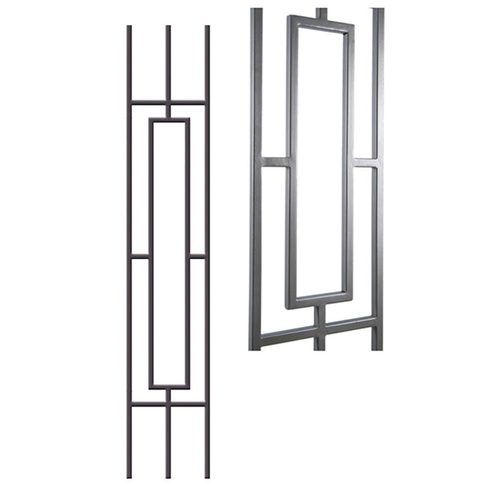 Best House Of Forgings Aalto Modern 46 In X 5 In Ash Grey 400 x 300
