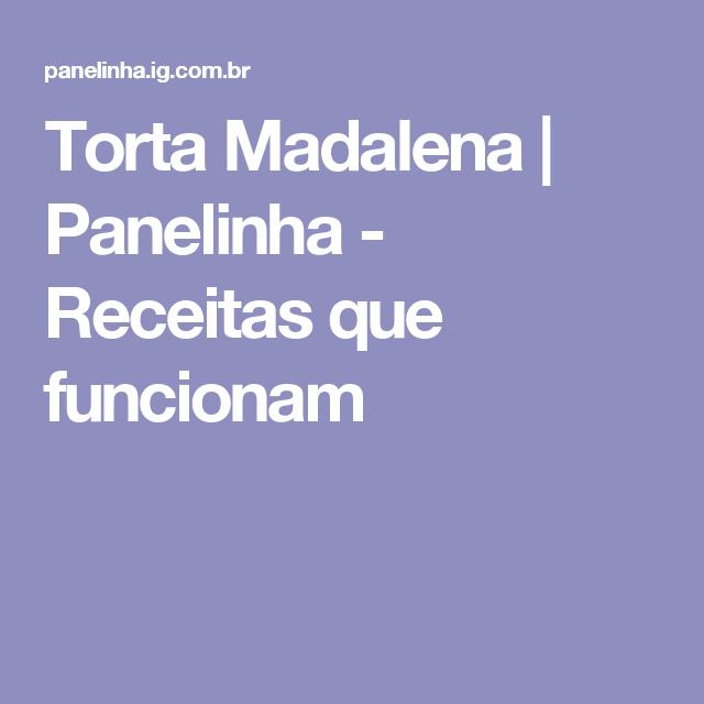 Torta Madalena | Panelinha - Receitas que funcionam