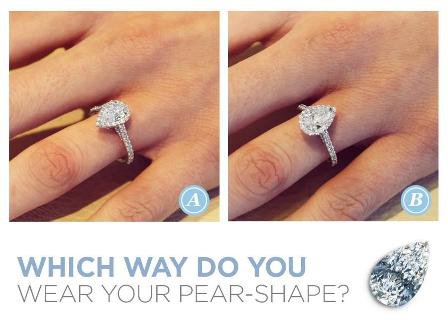 Which Way Do You Prefer To Wear A Pear Shape Diamond Let Us Know