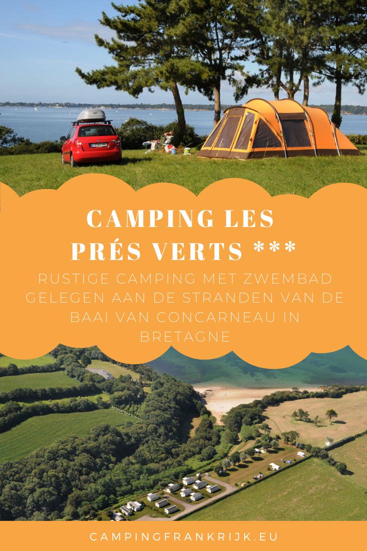 Kamperen In Bretagne Camping Les Prés Verts Kampeerplaatsen Baaien Bretagne