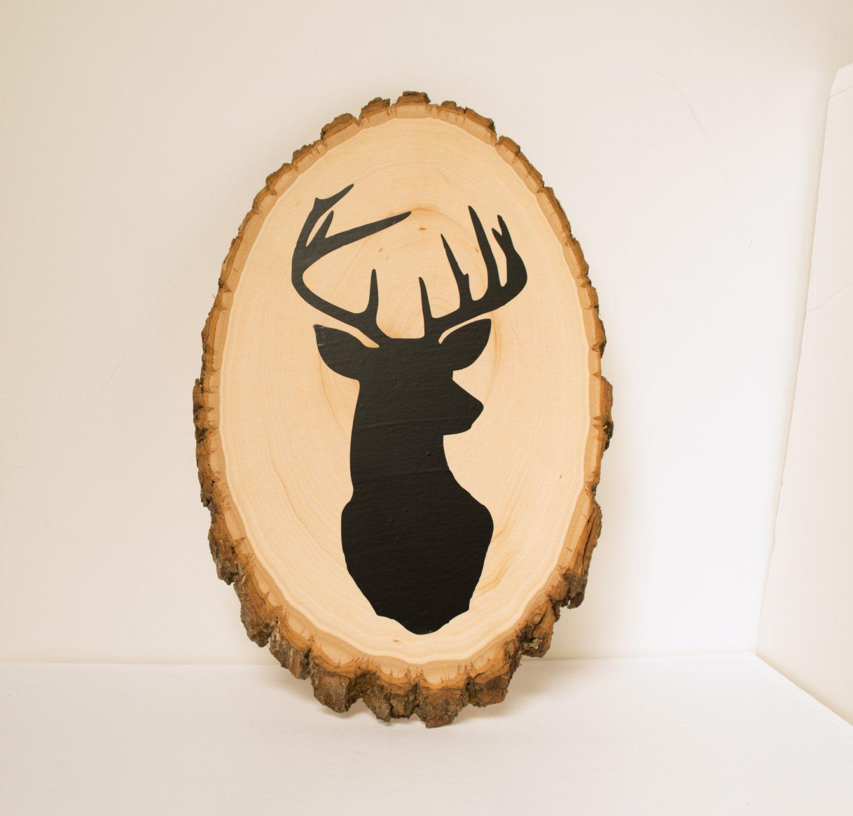 Deer head wood slice Rustic nursery decor by RusticBabyBoutique ...