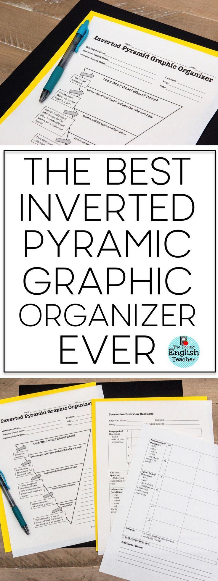 Journalism Graphic Organizers Inverted Pyramid