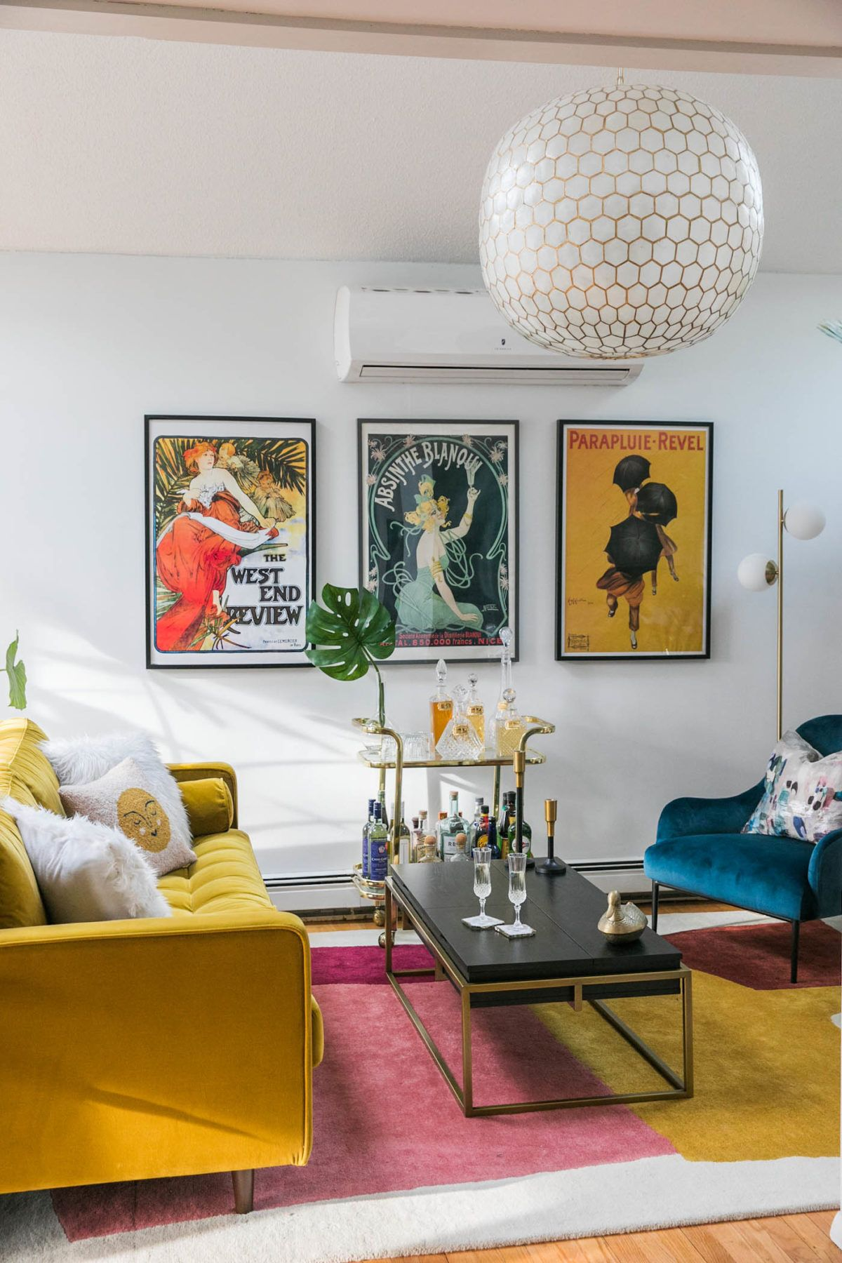Vibrant Mid-Century Glam Living Room Refresh - THE REVEAL » Jessica Brigham