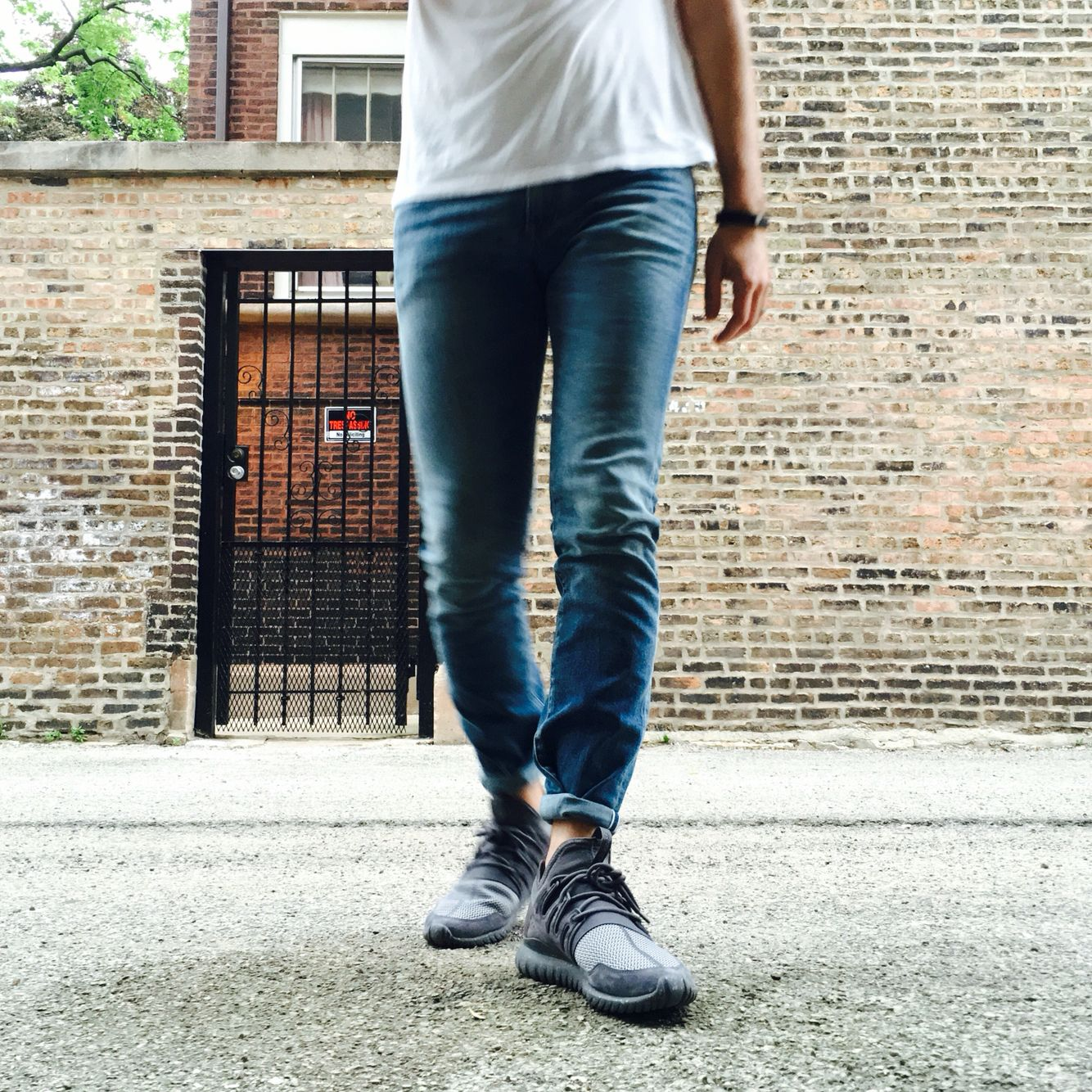 Adidas Tubular Radial On Foot