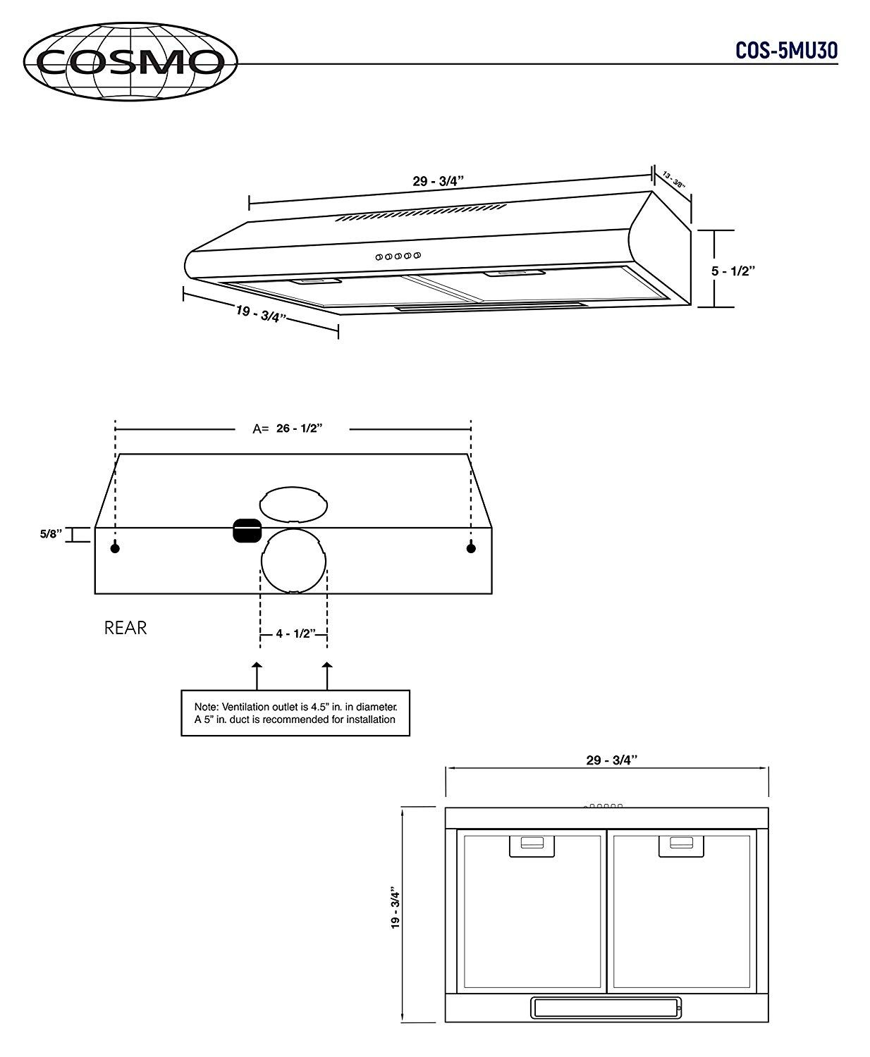 Suitable For Top Or Back Venting This Range Hood Can Be Installed Under A Cabinet Or Against A Wall Range Hood Under Cabinet Range Hoods Condo Kitchen Remodel