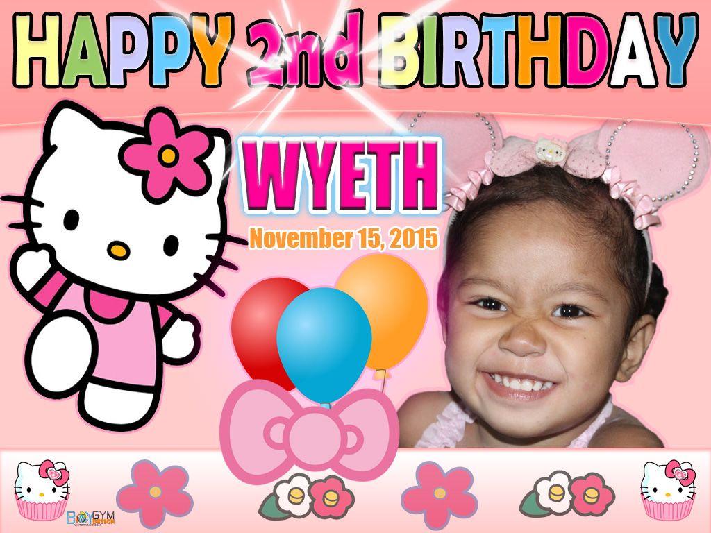 Hello Kitty Birthday Tarpaulin Design For My Niece Birthday