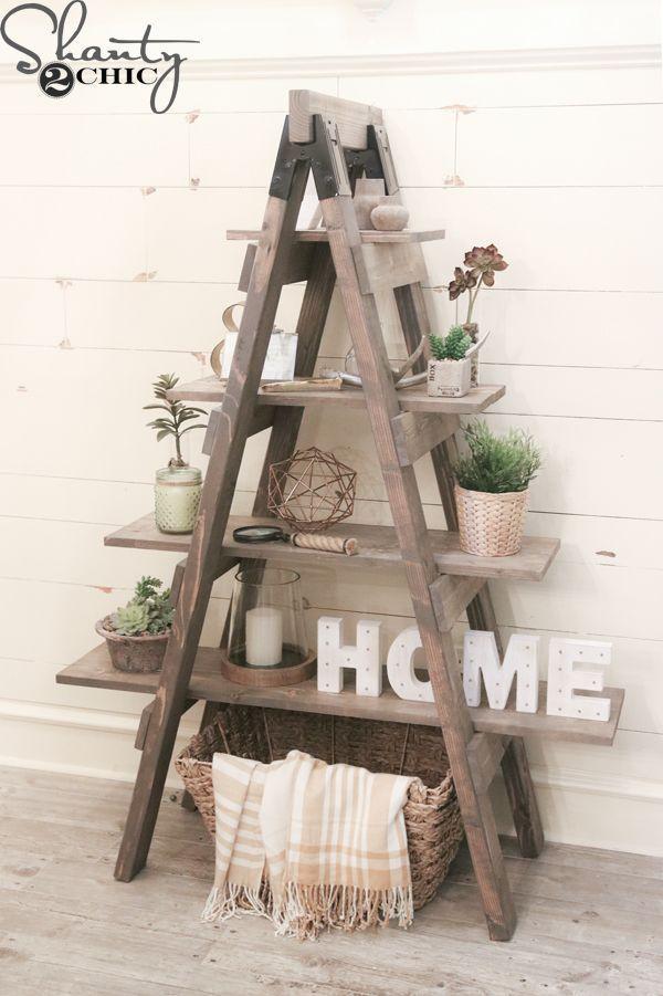 DIY Sawhorse Bookcase With Free Plans And Only Three Tools | Wohnung |  Pinterest | Selber Machen Ideen, Möbel Selber Bauen Und Neue Häuser