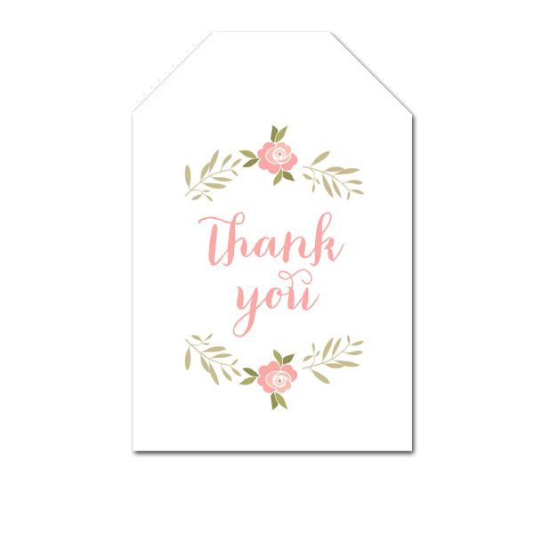 Free Printable Thank You Tags Pretty Mint Pink Floral Laurel Favor Tags Wedding Bridal Baby Instant Download Instant Download Printables Free Printable Gift Tags Gift Tag Cards Bridal Shower Printables