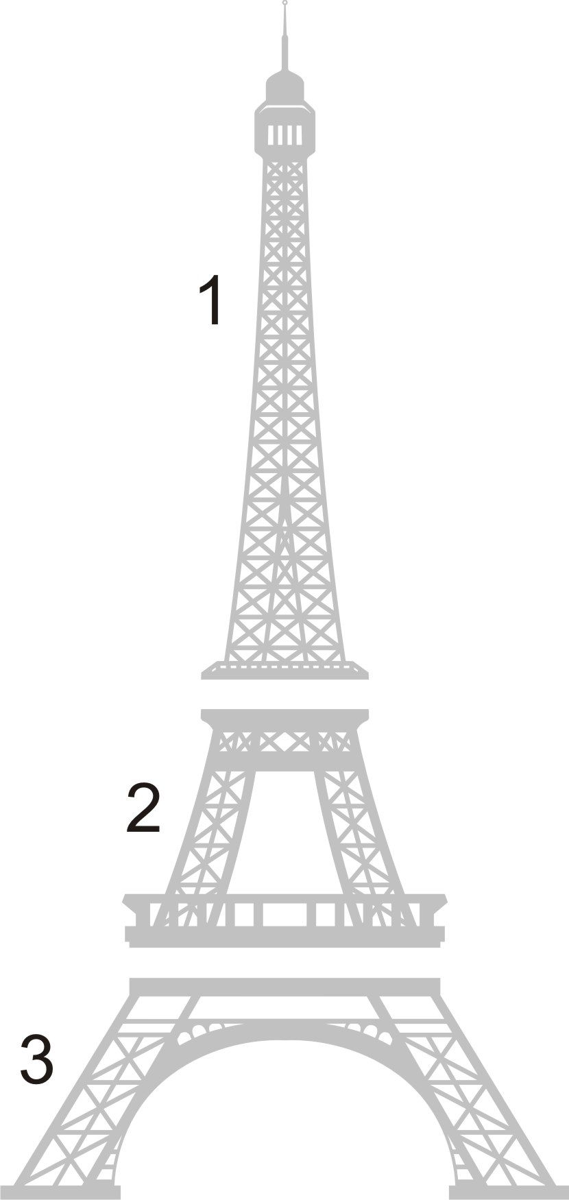 How to Draw the Eiffel Tower Step by Step | Wall Decal - 8 Foot ...
