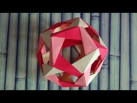 Haz un TETRAEDRO INTERSECTADO (5 intersecting tetrahedra) - YouTube