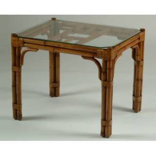 Check Out The White Craft M633124 Maui End Table With Glass Top Priced At At Homeclick