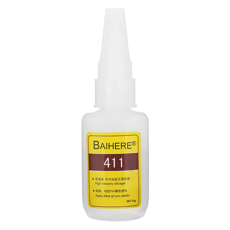 Baihere 20g Quick Drying Instant Adhesive Strong Bonding Glue For Silicone Rubber Plastic Pvc Baihere Rubber Drying Strong Instant B Adhesive Silicone Rubber Quick Dry