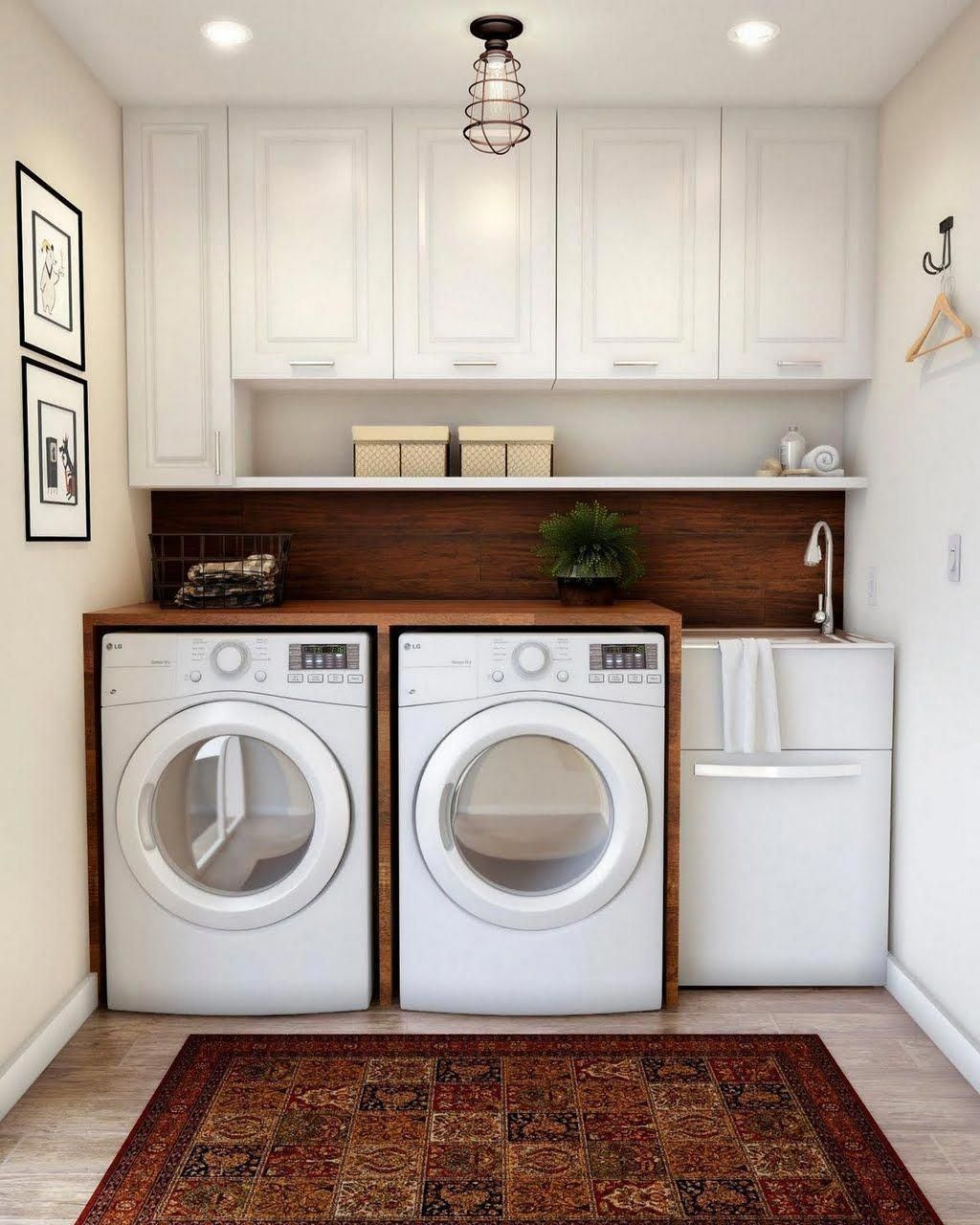 Presenza All In One 24 2 In X 21 3 In X 33 8 In Stainless Steel Utility Sink And Large White Drawer Cabinet Ql040 To Do Or Create In 2019 White Laundry Rooms Laundry Room