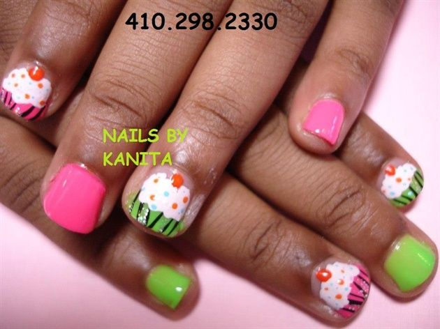 CUPCAKES - Nail Art Gallery by NAILS Magazine