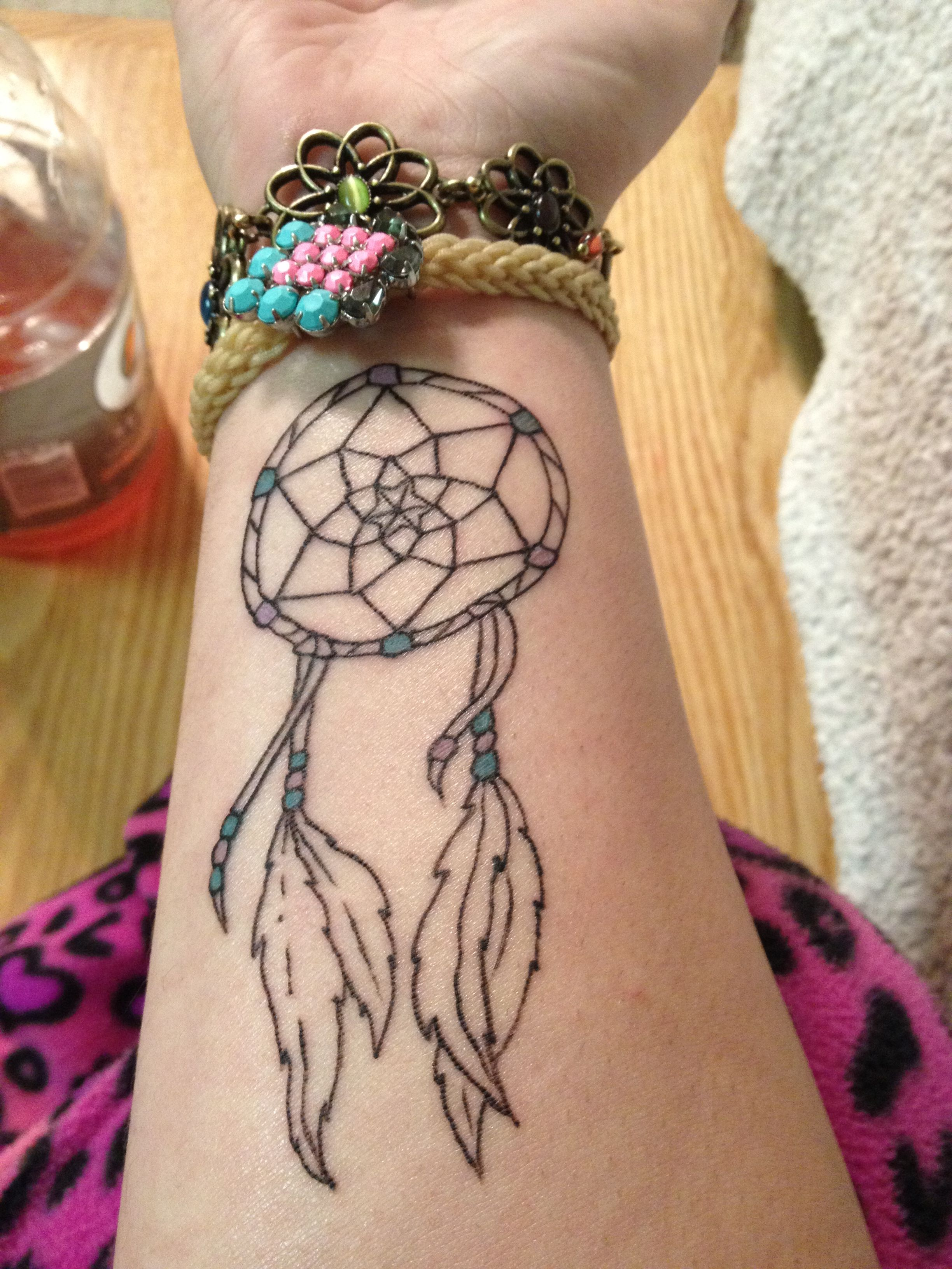 My new tattoo, I love dreamcatchers and my arm <3