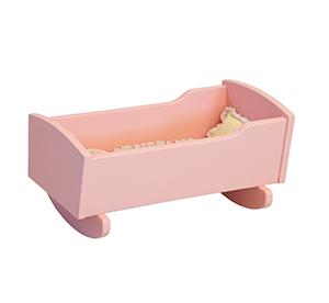 Rock A Bye Baby Doll In This American Made Wooden Doll Cradle Madera Ni 241 Os