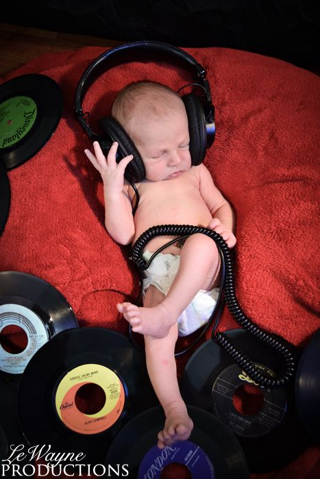 Dj Music Themed Newborn Photography Www Facebook Com Lewayneproductions