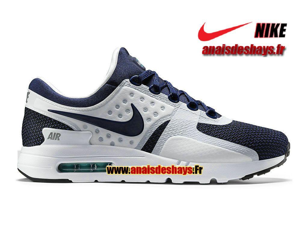 separation shoes a4b40 8232b Boutique Officiel Nike Wmns Air Max Zero GS (Taille Femme Enfant)  Blanc Bleu rift Hyper jade Bleu nuit marine 789695-104G