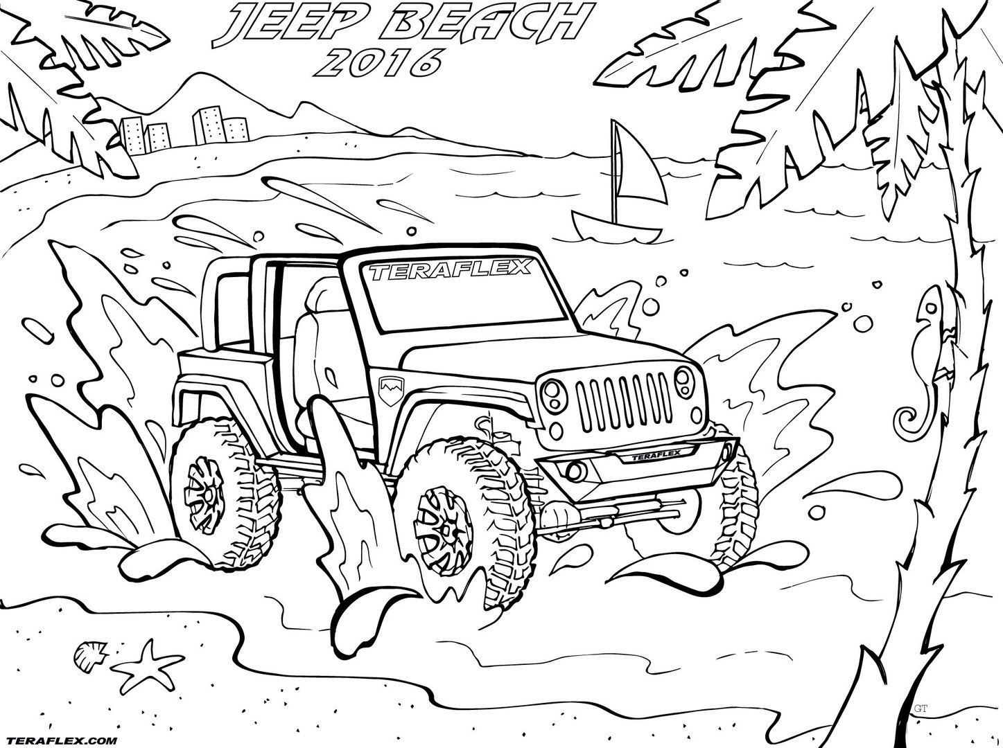 Find All Of Teraflex S Famous Jeep Coloring Pages In One Place Print Them Out Again And Again For Your Kids Including T Jeep Drawing Jeep Art Coloring Pages