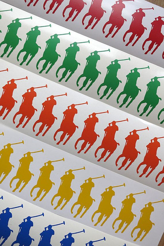 b2b7e799523dd SET-20 SIZE-2.5 Polo Vinyl Stickers. Horsemen Decals Horse rider decal.
