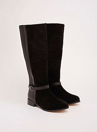 15f447066ed Torrid Collection Genuine Suede Piping Boots (Wide Width   Wide Calf ...