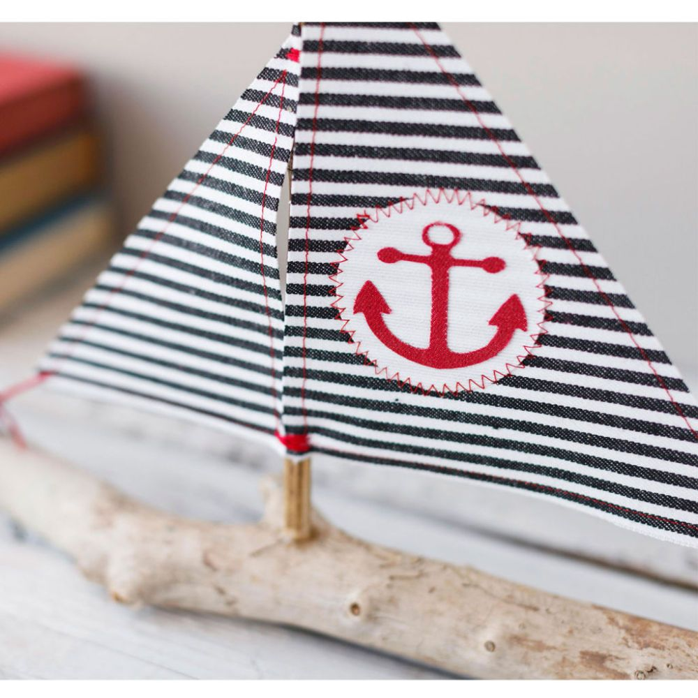 Set sail on a creative project voyage and make a delightful nautical inspired Denim Sailboat