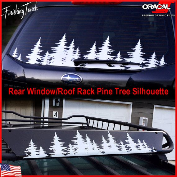Tree sticker forest decal custom northwest pnw graphic for car truck suv camper rv rear window roof rack pine tree