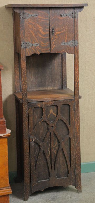 Furniture: Cabinet Liquor; Arts U0026 Crafts, Shop Of The Crafters, Oak