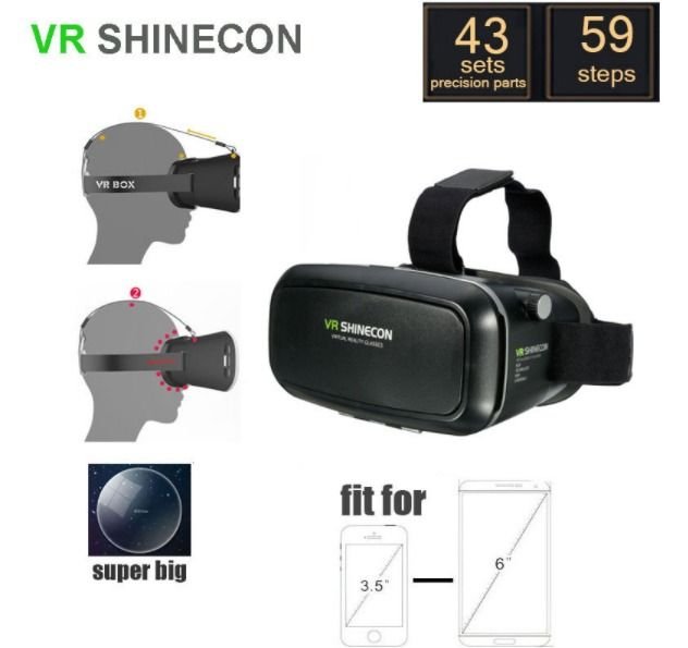 Virtual Reality Glasses 3d Vr For Iphone 6s Plus 6plus Samsung Htc