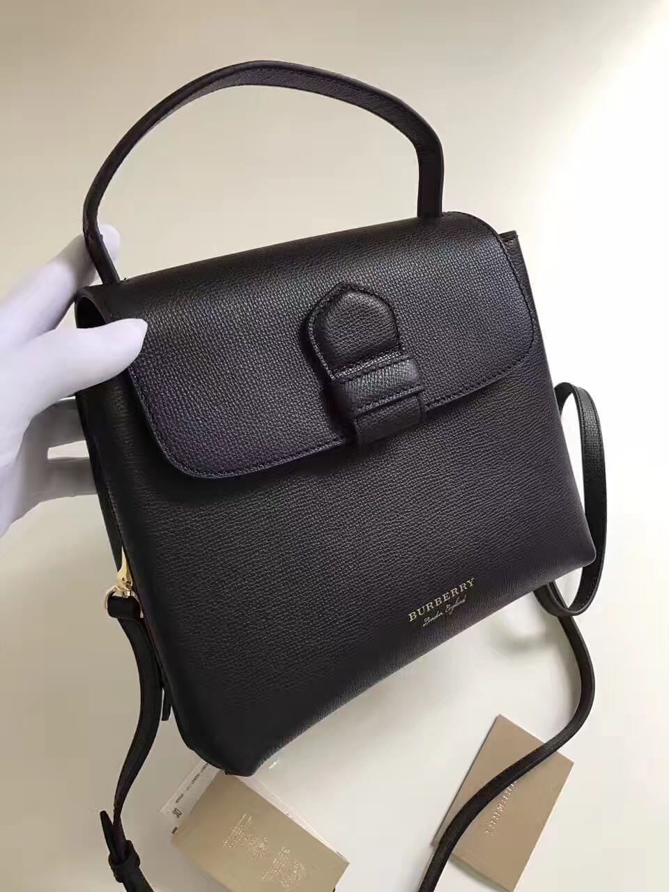 1c7130921679 Burberry Small Grainy Leather and House Check Tote Bag Black 2017 ...