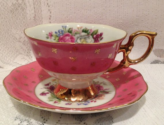 Vintage footed SHAFFORD Bone China Tea Cup & by CupsAndRoses, $10.00