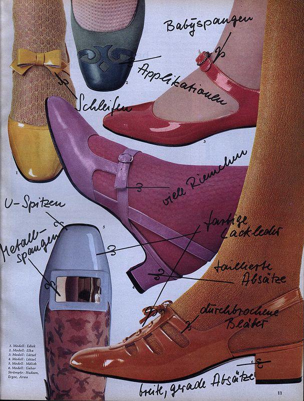 10b7fe39796 1967 Vintage shoe fashion, Germany | Vintage Fashion | 60s shoes ...