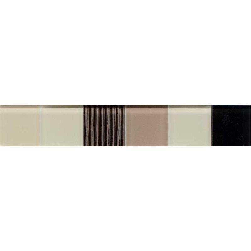 Find Johnson Tiles 300 x 50mm BrownAand Cream Minimalite Glass Wall ...